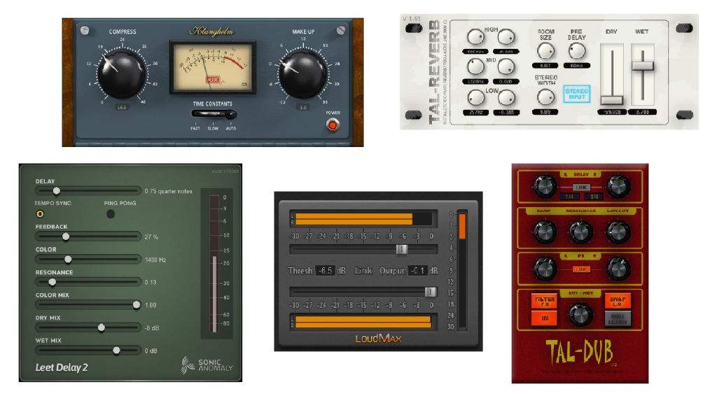 Five great and easy to use free VST effects plugins