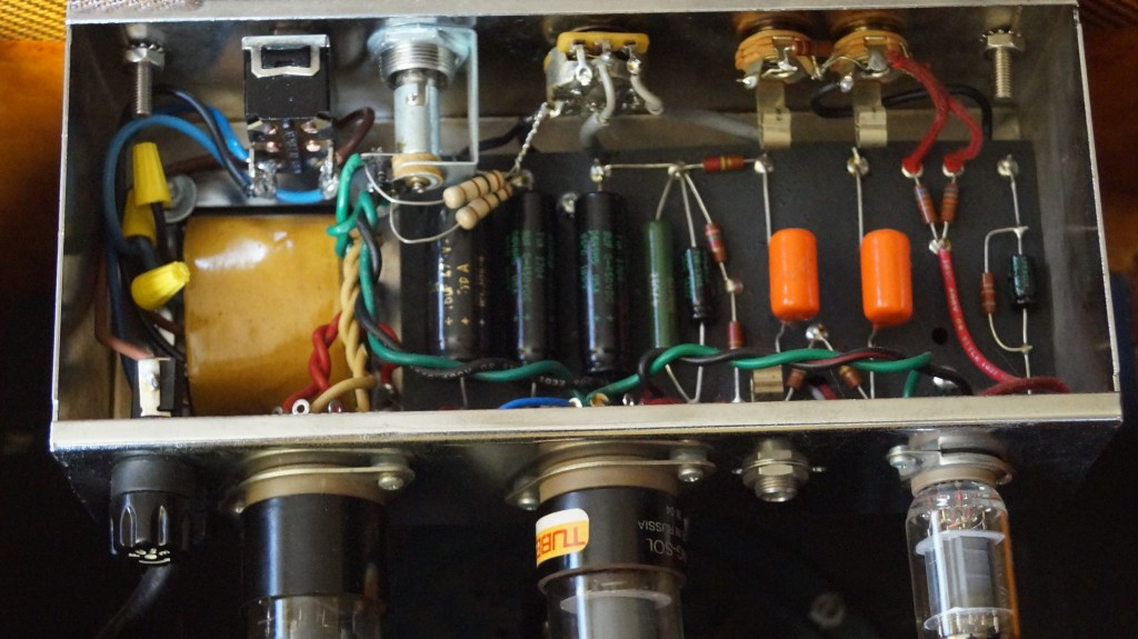 Weber Speakers Tweed Champ 5F1 kit with Mercury Magnetics transformers and upgraded parts.